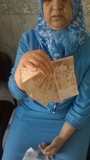 500 dh pour Mme Hanane BENTARKI