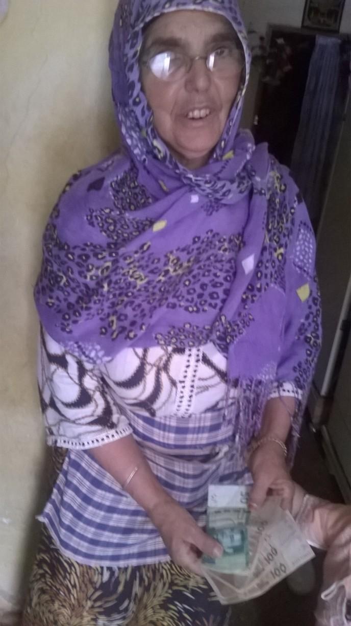 Don de 350 dh pour Mme Touda Bouyekhef