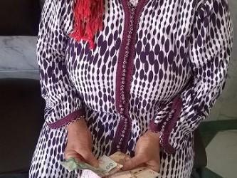 Don pour Mme Fatima Aamajjou 350 dh