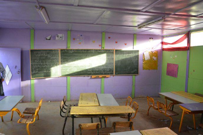 salle de classe de l'école de Melayna